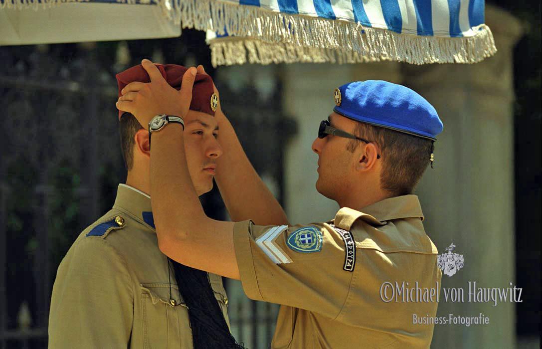 Wachsoldaten   Athen Griechenland