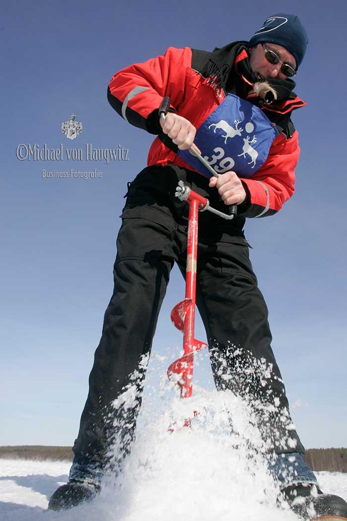 Eisfischen | Finnisch Lappland