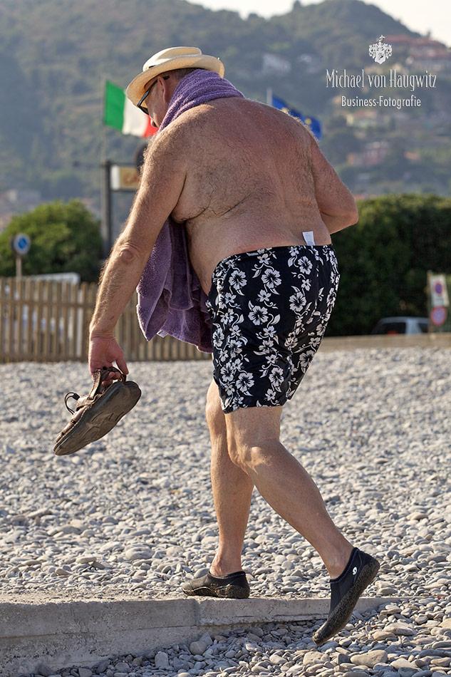 Badegast Bordighera I Italien